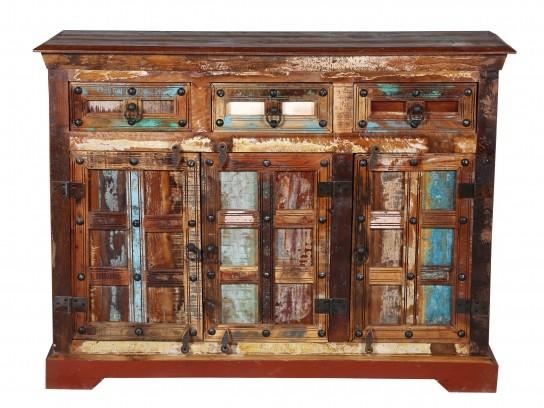 Vintage Massivholz Kommode 120x90x40cm Kommoden Sideboards