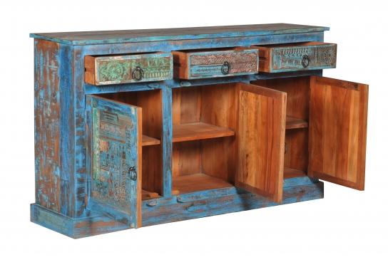 Blaue Kommode Sideboard 150x85x40cm Vintage Mobel Kommoden