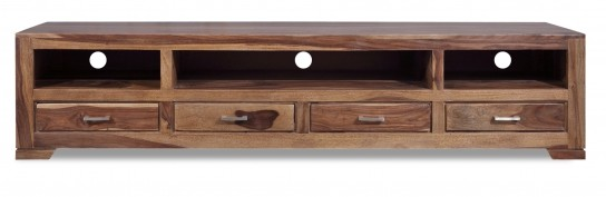 Akazienholz Möbel Lowboard 205x45x45cm Massiv Tv Hifi Möbel