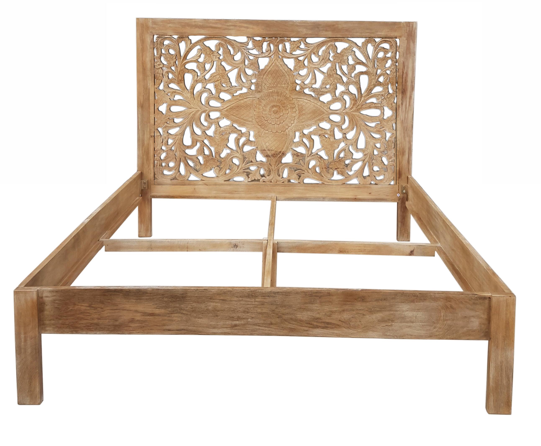 shabby chic m bel bett 140x200cm massivholz schlafzimmer wohnbereiche kolonialm. Black Bedroom Furniture Sets. Home Design Ideas