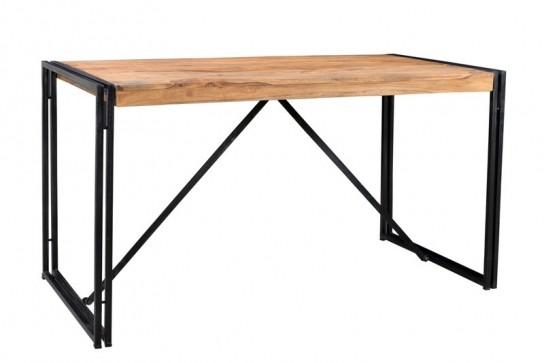 Sheesham Möbel Metall Tisch 140x76x70cm Massiv Esszimmer
